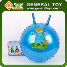 45cm Children Toy Jump Ball Rubber jumping ball With Handle