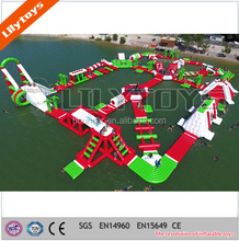 Lily Toys crazy giant inflatable amusement park on water floating for sea and lake