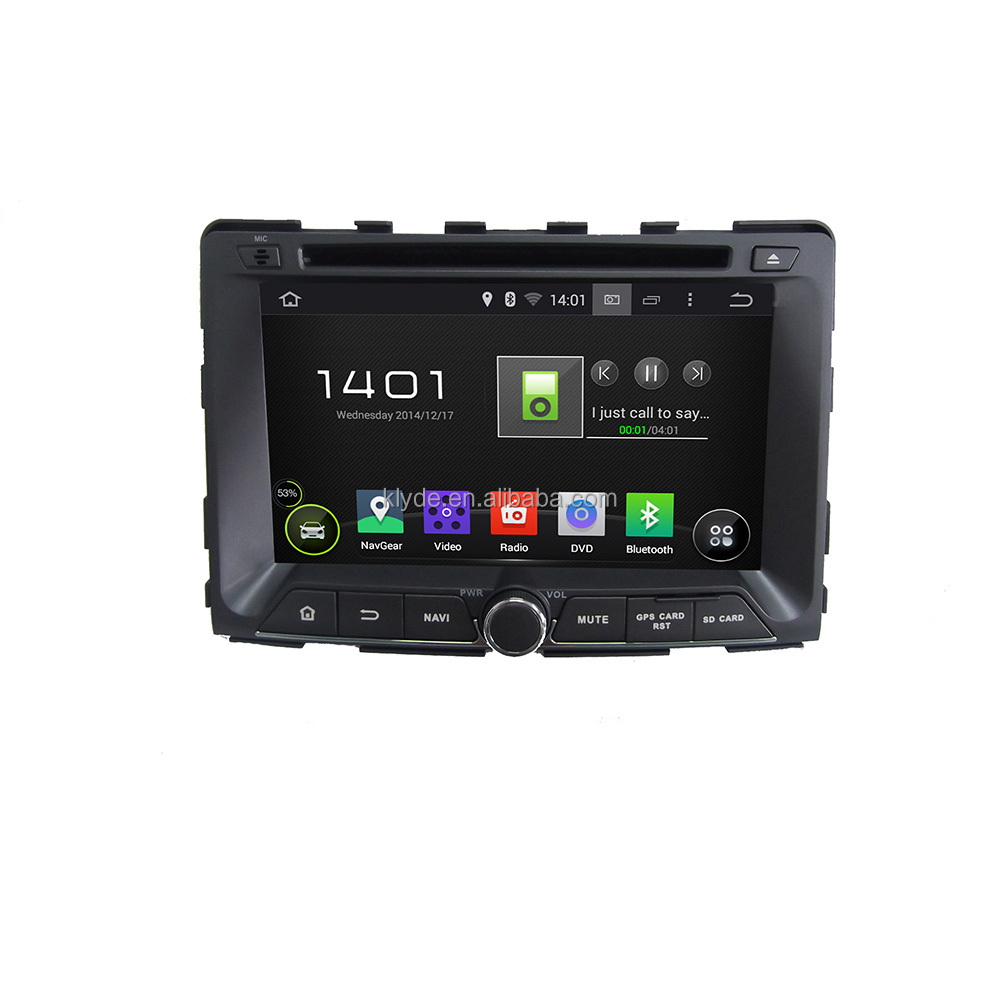 2din Car DVD gps player Android 4.4.4 quad core multi-touch screen DVD audio player for Ssangyong RODIUS 2014