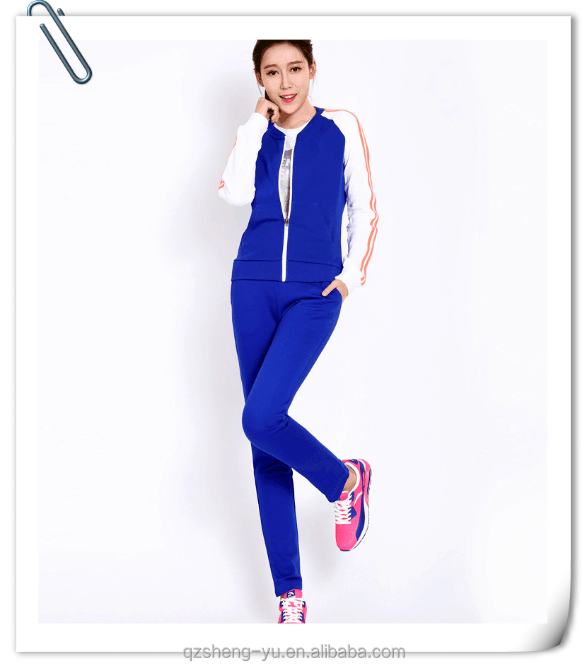 high quality training and jogging sexy sports tracksuit for women