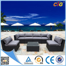 Custom cheap outdoor wicker furniture rattan sofa