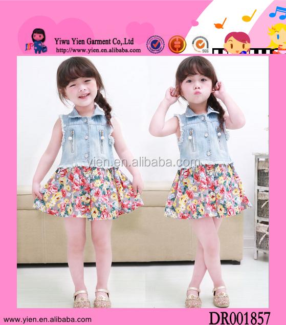 2015 Korean Fashion Kids Clothes Girls Sleeveless Boutique
