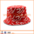 Cool custom silk print red bucket hats