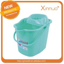 The cheap plastic mop bucket with wheel,factory price