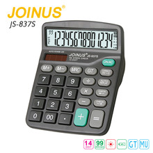 High Quality Business Desktop 14 Digits Citizen Calculator With Alarm Clock