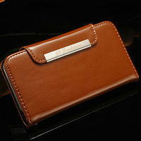 flip cover for iphone5, smart phone case for iphone 5, new leather folding wallet case for iphone 5