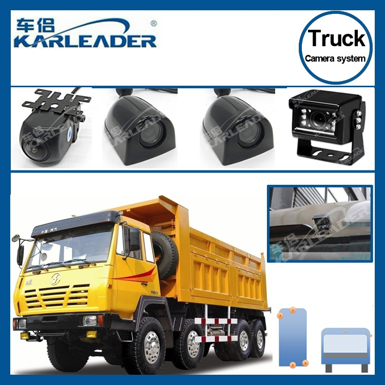 4 channel truck camera system , univesal for all truck camera system 24v , HD night vision truck security camera