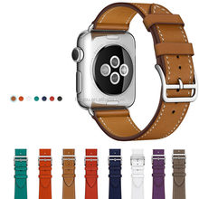 Unisex Charm 38MM 42MM Iwatch Genuine Leather Band Apple Watch Strap With Adapter For Series 1 Series 2 Series 3