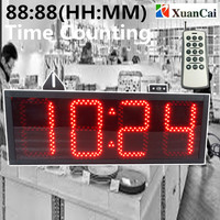 5INCH 88:88 HH:MM Auto counter Time 4 digits 7 segment display LED electronic time display