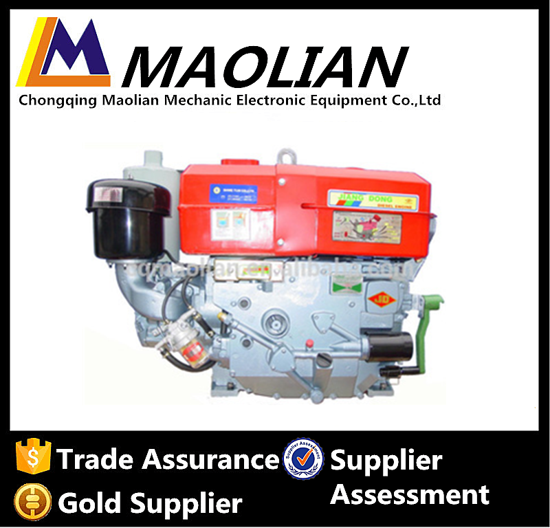 Chinese Famous Brand JD350 35Hp Marine Single Cylinder Water Diesel Engine For Boat