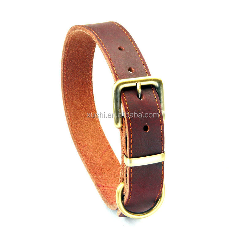 Adjustable Leather Dog Collar,Handmade Leather Pet Collar