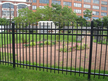 security iron fence,pvc coated ornamental wrought iron fence,privacy iron fence