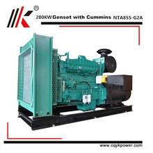 280kw high quality CCEC NTA855-G2A engine for 350kva genset with diesel generator portable