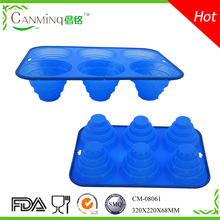 home cake baking apple shaped cake mold silicone with customized logo printed