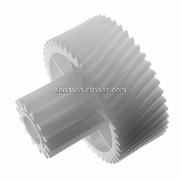 Custom good and cheap helical white nylon plastic gear of meat grinder