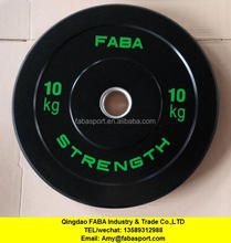 RBP 9991 cheap custom crossfit rubber black bumper plates for sale