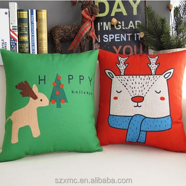 Christmas theme design custom printed throw pillow, christmas pillow cover