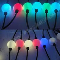 DMX 3D 50mm led pixel ball light string for nightclub stage