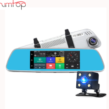 "7""3G Car DVR Rearview Mirror camera Android 5.0 GPS Navigation wifi Dual Lens FHD 1080P Recorder Automobile Dash cam"