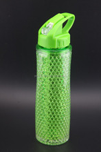20oz new arrived promotional plastic frosted mug with lid and ice beads gel
