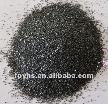 dark black quartz sand