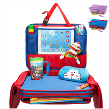 Best Quality Kids Travel Play Tray Car Seat Organizer Messenger Bag with Tablet Viewer