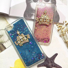 Customized Design Crown Liquid Silicone TPU Frame Hard Back Protective Case For Iphone6/6s 4.7''