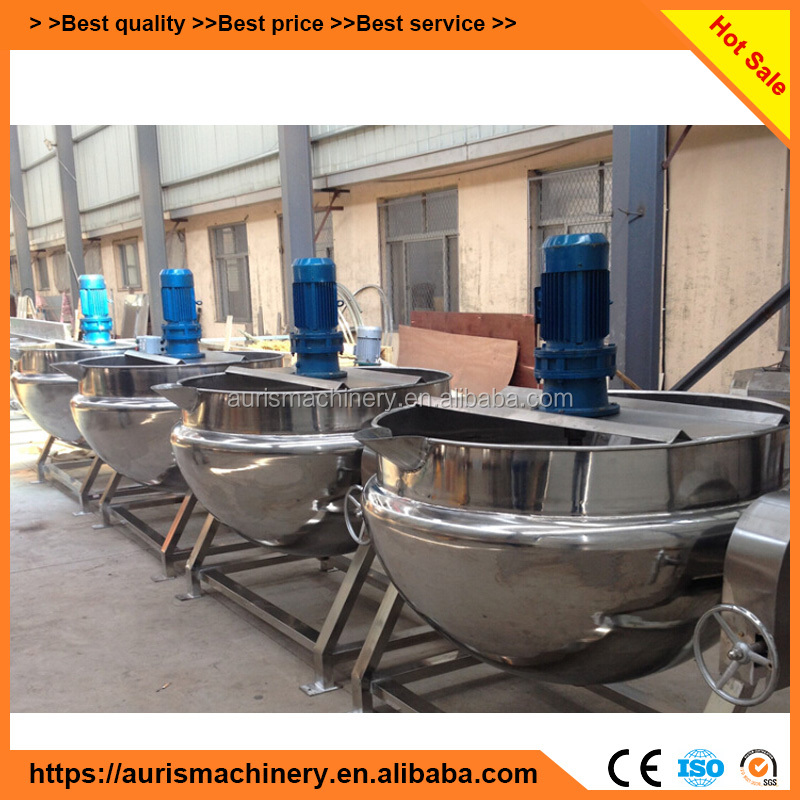 industrial food mixer heated/steam jacketed kettle/cooking pot with mixer