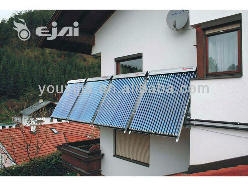 100L balcony hanging flat panel solar water heaters