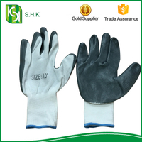 Top Quality Industry Nylon Safty Working Nitrile Coated Glove