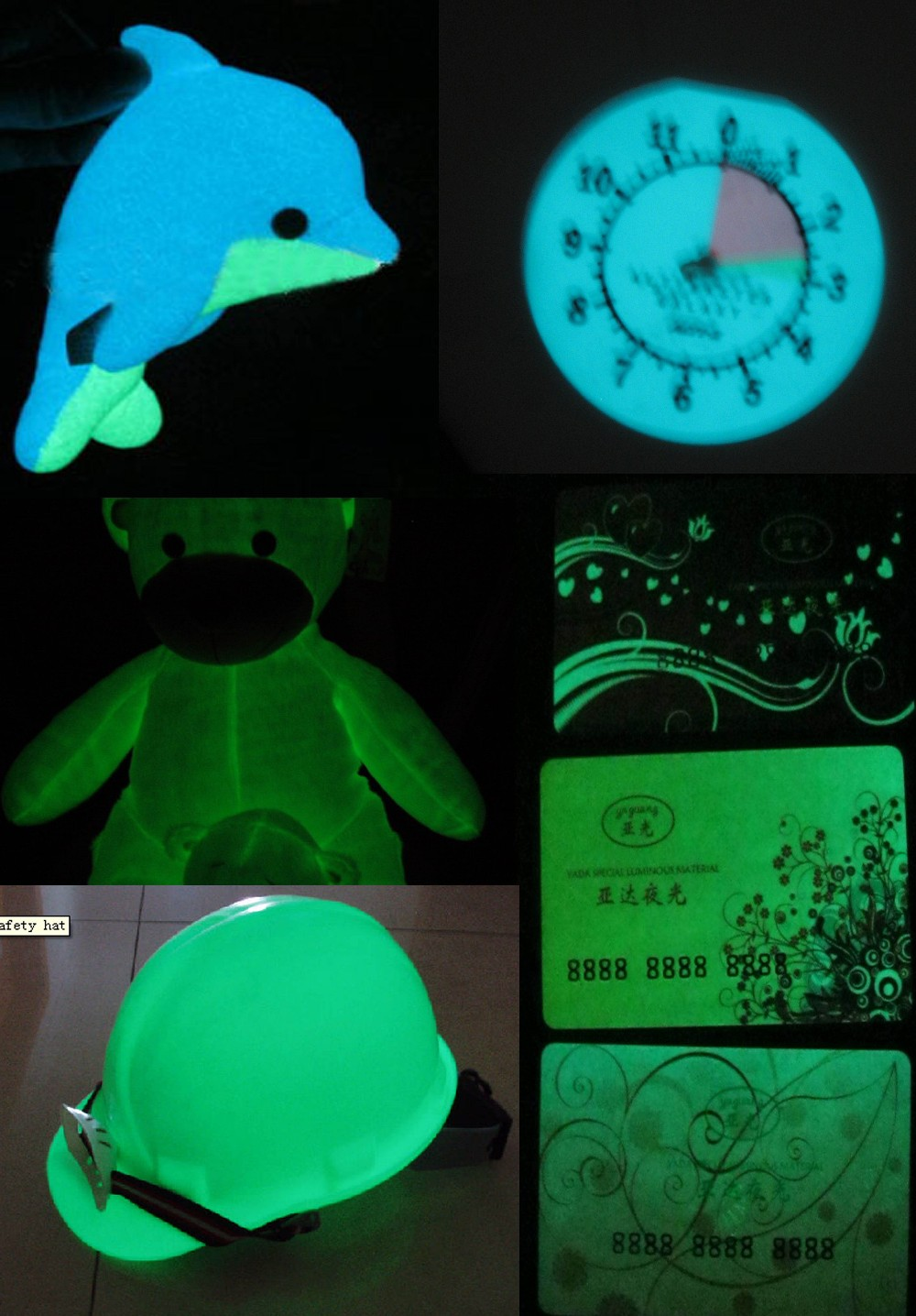 High luminous photoluminescent glow in the dark pigment /powder