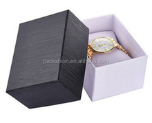 luxury black paper cardboard watch box bracelet box packaging with Pillow