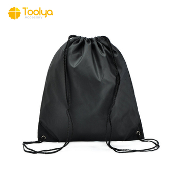 Custom Travel Softback Drawstring String Backpack bag with logo