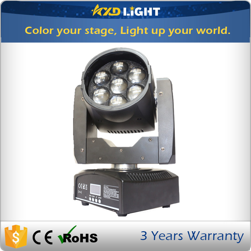 Hot sale 7x12W RGBW Factory Price Disco LED Light