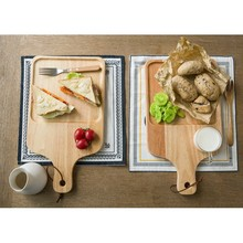 Newest Kitchen Accessories Round Wood Pizza Cutting Board Serving Tray Wholesale
