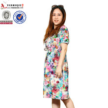 Clothing factories in china tunic short floral sexy lady dress