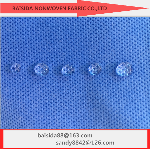 waterproof nonwoven 100% polypropylene ss sms smms fabric