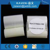 Anti fake barcode ribbon and transparent UV ribbon for Zebra card printer