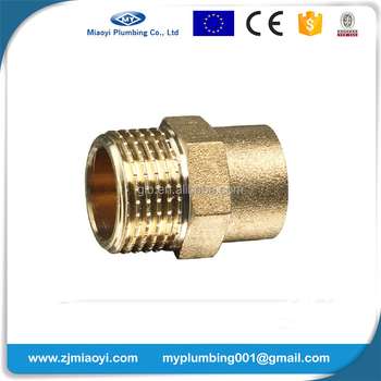 Brass Soldering Fittings for Copper Pipe EN1254 - Male Coupler