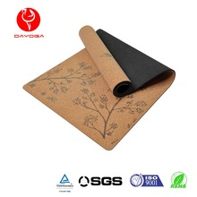 DAYOGA Eco Friendly Cork Natural Rubber Pilates Yoga Mat