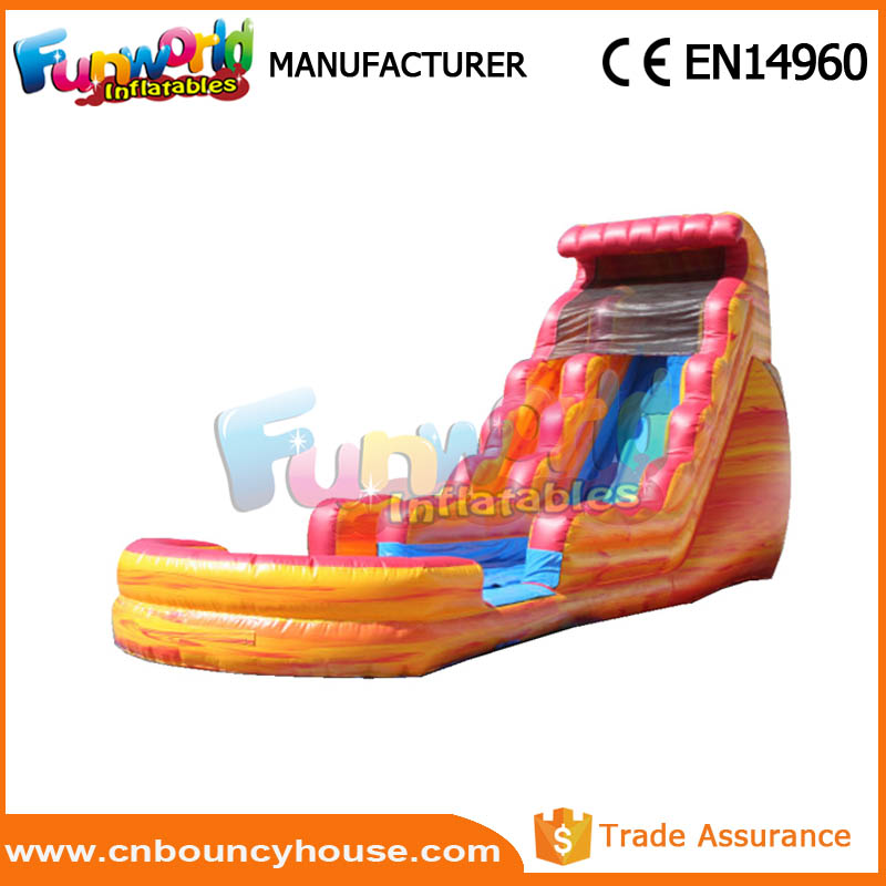 Water Slide Volcano For Party Inflatable Volcano Water Slide