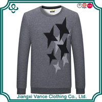 China made plain pure OEM Customized Top grade chest embroider stars 100% cotton manufacturer nobranded men t shirt