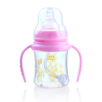 150ml wide neck Glass feeding bottle, BPA free, easy to clean safe for baby