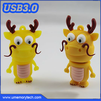 Cute dragon shaped usb flash drives cheap bulk custom usb novelty items