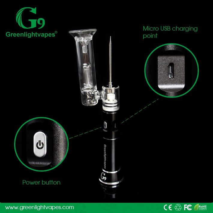 Authentic g9 henail new smoking products 2016 wax pen
