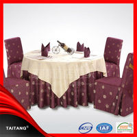 high quality factory price hotel luxury plastic pvc dining table cover