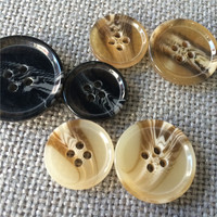 BUFFALO HORN COLOR BUTTON FOR SUIT GARMENT