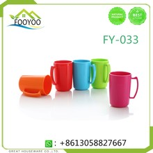 FY-033 DRINKING REUSABLE PLASTIC DRINKING CUPS WITH COVER AND STRAW