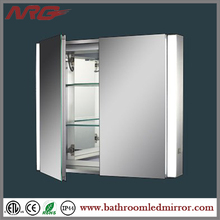 LED Lighted Bathroom Corner Mirrors Cabinet
