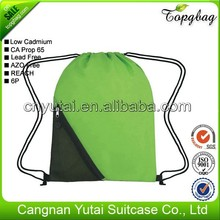Low price latest cheap vinyl drawstring bags
